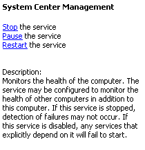 System Center Dienst